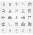 City line icons set vector image vector image