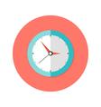 Clock Flat Circle Icon vector image