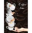 Coffee and Tea cups set eps10 vector image vector image