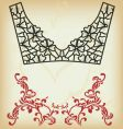 collar design vector image vector image