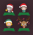 collection of banners with cute christmas vector image vector image
