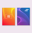 colorful flyer template design with glowing waves vector image vector image