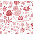 coral seamless pattern floral spring summer vector image vector image