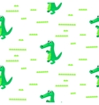 Crocodile green and white seamless pattern vector image vector image