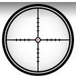 crosshair reticle target mark editable vector image