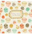 Cupcakes Birthday Card vector image