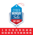 Cyber Monday Sale Badge vector image
