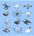 drones and quadrocopters vector image