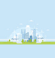 eco city skyline vector image vector image