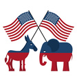 Elephant and donkey Symbols of Democrats and vector image vector image