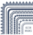 Ethnic hand drawn line border set and vector image vector image