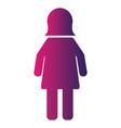 female pictogram user person icon vector image vector image
