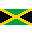Flag jamaica vector image