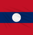 flag laos swaying in the wind realistic vector image