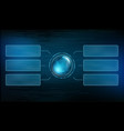 futuristic technology background with hud vector image vector image