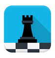 Game chess flat app icon with long shadow vector image vector image