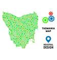 gears tasmania island map composition vector image