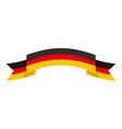 germany flag ribbon symbol national vector image