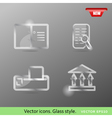 Glass icons vol2 vector image vector image
