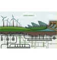 green energy Wind-powered electricity vector image vector image