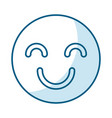 happy face isolated icon vector image