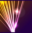 hi-tech glowing neon laser rays abstract vector image