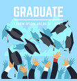 high school graduating students throw black vector image