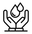 holding two drops icon outline style vector image vector image