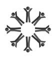 human figure group teamwork icon vector image vector image