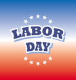labor day america banner on red and blue vector image vector image