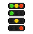 led traffic light vector image vector image