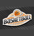 logo for basketball sport vector image