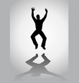 man jumping silhouette vector image vector image