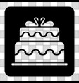 marriage cake rounded square vector image