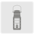 monochrome icon with lantern for your design vector image vector image