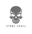 mosaic skull design template vector image vector image