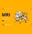 mri scanner with patient and doctor web banner vector image vector image