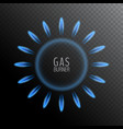 natural gas blue flame vector image vector image