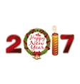 New Year 2017 Creative greeting card design with vector image