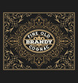 old label design for brandy and wine labe vector image vector image