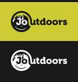 outdoor and mountain logo vector image