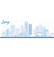 outline zunyi china city skyline with blue vector image vector image