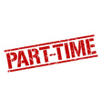 part-time stamp vector image vector image