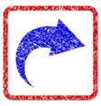 redo grunge framed icon vector image
