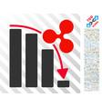 ripple fail down chart flat icon with bonus vector image vector image