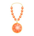 ruby necklace mockup realistic style vector image