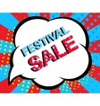 Sale poster with FESTIVAL SALE text Advertising vector image vector image