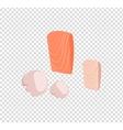 Salmon Steak Flat Design vector image vector image