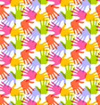 seamless pattern print hands vector image vector image