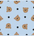 seamless pattern with cute bears vector image vector image